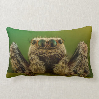 Green Eyed Jumping Spider Arachnology Lumbar Cushion