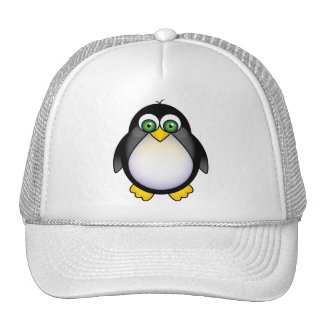 Green Eyed Penguin Cartoon Cap