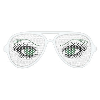 Green Eyes Aviator Sunglasses