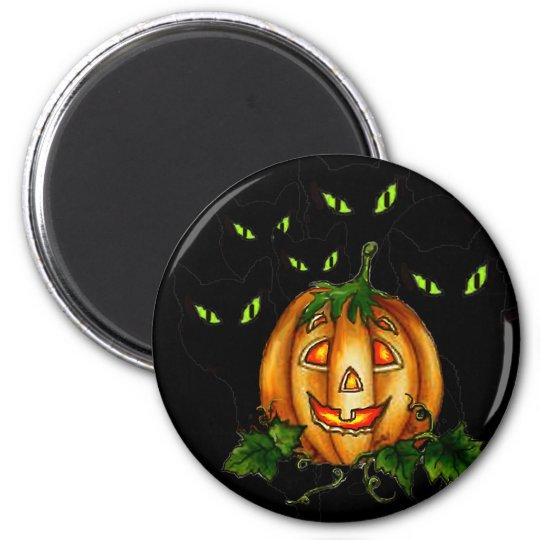 GREEN EYES by SHARON SHARPE 6 Cm Round Magnet