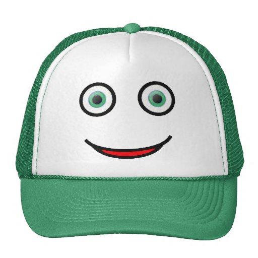 Green Eyes Happy Smiley Face Trucker Hat