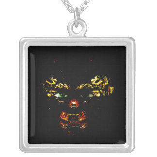 Green Eyes Square Pendant Necklace