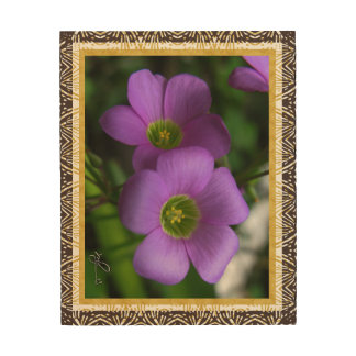Green Eyes Wild Plant Wood Wall Art Gold