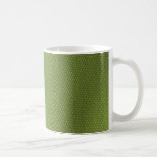 Green Fabric Art Deco Collection Basic White Mug