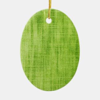 Green Fabric Texture Ceramic Oval Decoration