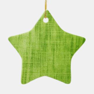 Green Fabric Texture Ceramic Star Decoration