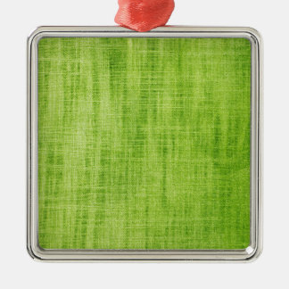 Green Fabric Texture Christmas Ornament