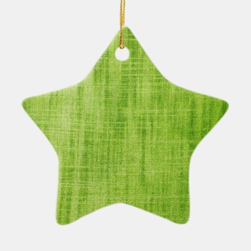Green Fabric Texture Christmas Ornament
