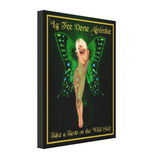 Green Fairy Absinthe Canvas Print