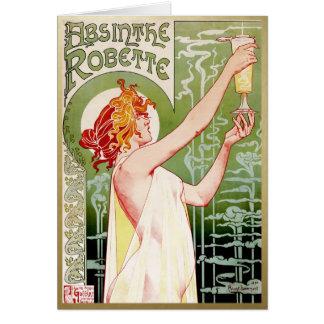 Green Fairy Absinthe Note Card