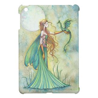 Green Fairy and Dragon Fantasy Art iPad Mini Case