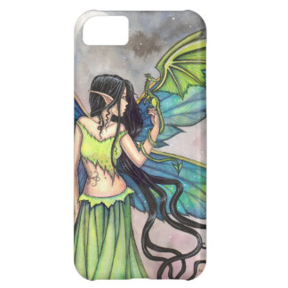 Green Fairy and Dragon Fantasy Art iPhone 5C Case