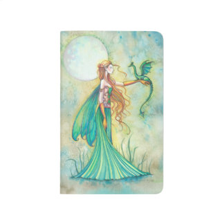 Green Fairy and Dragon Fantasy Art Journal