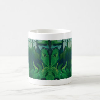 """Green Fairy"" Collage Coffee Mug"