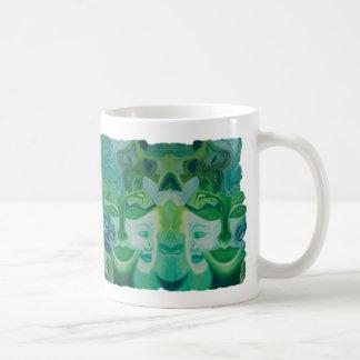 """Green Fairy"" Collage Coffee Mug"