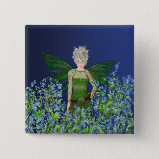 Green Fairy - Forget-Me-Not 15 Cm Square Badge