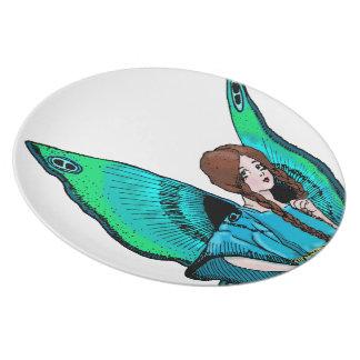 Green Fairy Melamine Plate