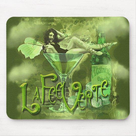 Green Fairy Splashy Collage I Mouse Mat