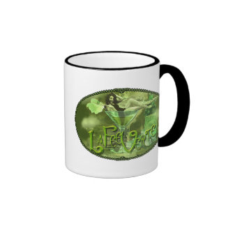 Green Fairy Splashy Collage I Mug