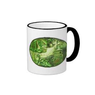 Green Fairy Splashy Collage IV Ringer Mug