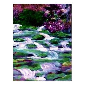 """Green Fairy Waterfalls""  CricketDiane Art Postcard"