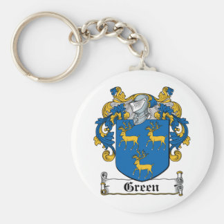 Green Family Crest Key Chains