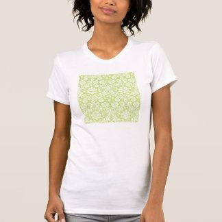 Green fancy damask pattern t-shirt