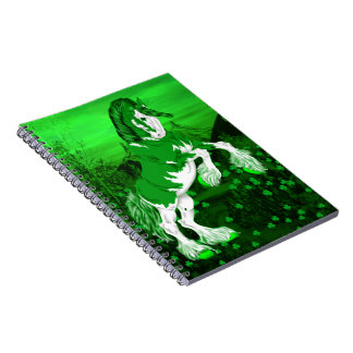 Green Fantasy Clydesdale Horse Notebook