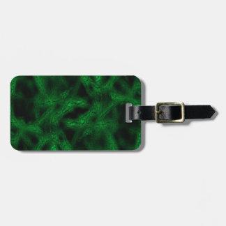 Green fantasy pattern luggage tag