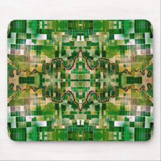 Green Farm Motif Mouse pad