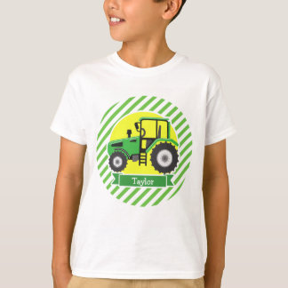 Green Farm Tractor with Yellow;  Green & White T Shirt