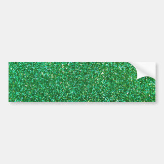 Green faux glitter graphic bumper sticker