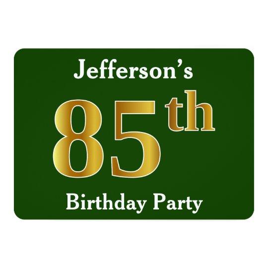 Green, Faux Gold 85th Birthday Party + Custom
