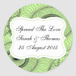 Green Favors Jam Jar Labels Spread The Love Round Stickers