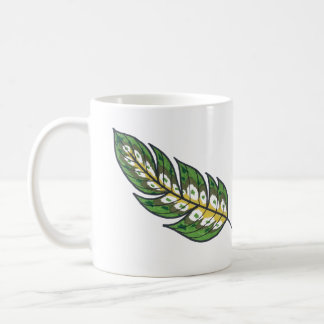 Green Feather Coffee Mug