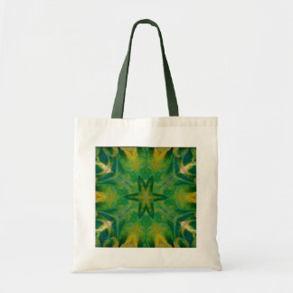 Green Feather Kaleido-Tote Tote Bag