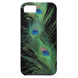 Green Feathers with Black iPhone 5 Covers