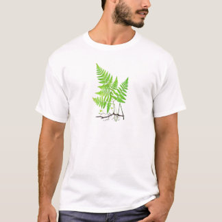Green Fern Botanical Art Illustration T-Shirt