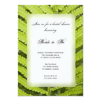 Green Fern Frond Bridal Shower 13 Cm X 18 Cm Invitation Card