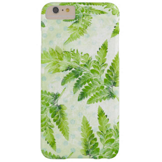 Green Fern Leaves Modern Botanical Watercolor Barely There iPhone 6 Plus Case