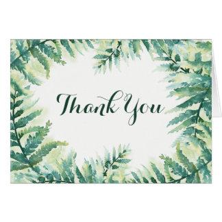 Green Fern Thank You Card