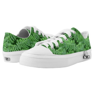 Green Ferns Nature Pattern Low Tops