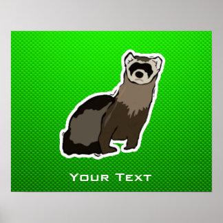 Green Ferret Poster