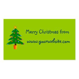 Green Festive Christmas Tree Business Card Template