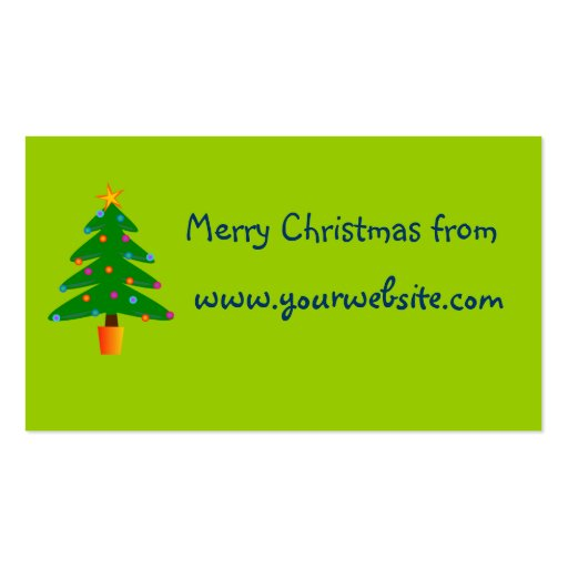 Green Festive Christmas Tree Business Card Template