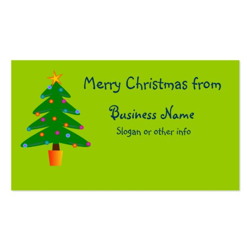 Green Festive Christmas Tree Business Card