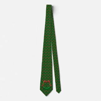 Green Festive Wreath Tie