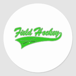 Green Field Hockey Classic Round Sticker