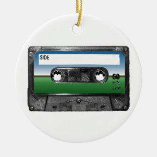 Green Field Horizon Cassette Round Ceramic Decoration