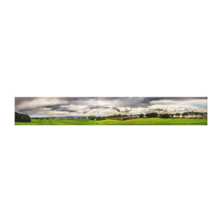 Green Fields and White Clouds Gallery Wrap Canvas